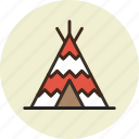 camp, indian, tent, wigwam