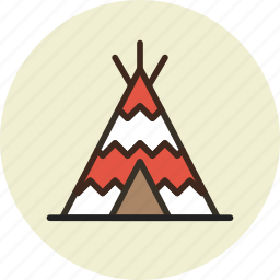 camp, indian, tent, wigwam icon