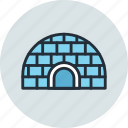 chukchi, eskimo, ice, icehouse, igloo icon