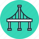 arc, bridge, highway, san francisco icon