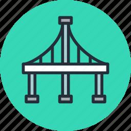 arc, bridge, highway, san francisco icon
