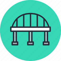 arc, bridge, column, highway icon
