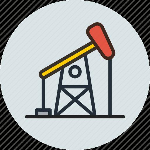 drill, drilling, gas, oil, petroleum, refinery icon