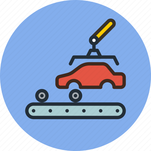 Auto, car, factory, industrial, industry, manufacturer, production icon - Download on Iconfinder