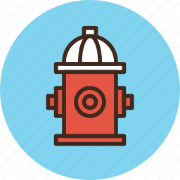fire, firefighter, hydrant, water icon