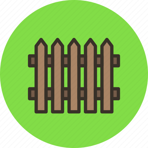 close, fence, paling, wood icon