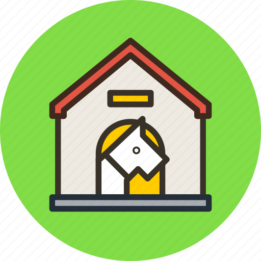 danger, dog, doghouse, house icon