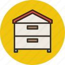 bee, beehive, hive, house icon