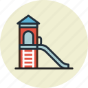children, kids, park, slides icon