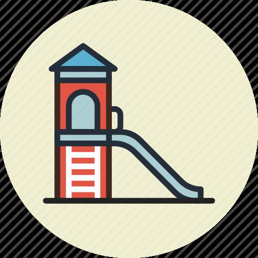 children, kids, park, slides icon