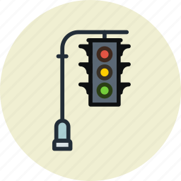 light, lights, street, traffic, transport icon