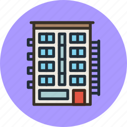 apartment, building, home, house, urban icon