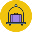 baggage, carriage, hotel, pushcart, luggage