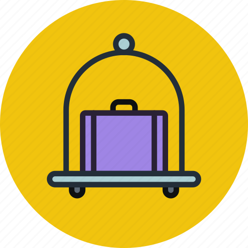 baggage, carriage, hotel, luggage, pushcart icon