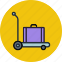 cargo, pushcart, luggage, baggage, carriage, suitcase, transport