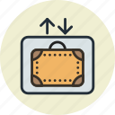 baggage, lift, luggage, service icon