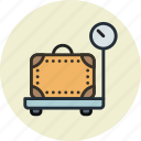 baggage, luggage, scale, weight icon