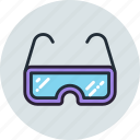 glasses, lab, laboratory, read, sport, view icon