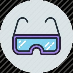 glasses, lab, laboratory, read, sport, view icon