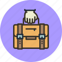 bag, briefcase, business, carry, hand, portfolio icon