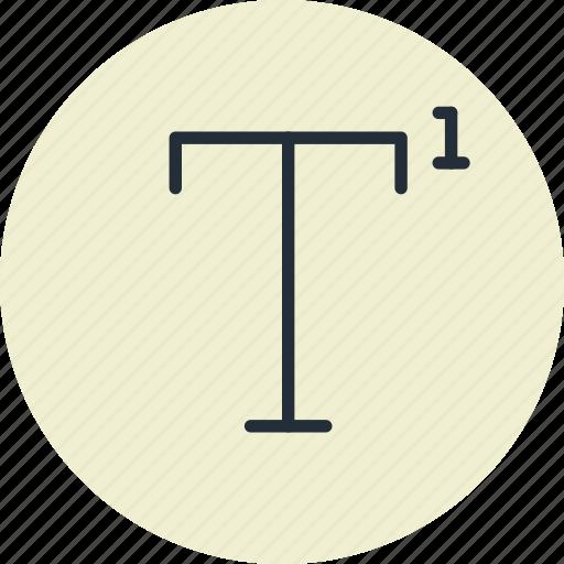 font, superscript, text, tool icon