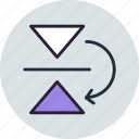 flip, mirror, reflect, tool, vertical icon