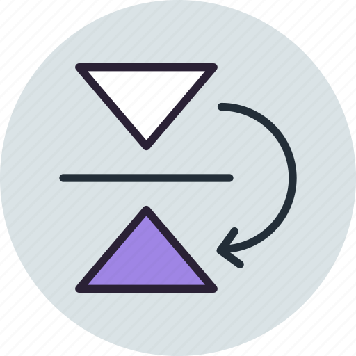 flip, mirror, reflect, tool, vertical icon