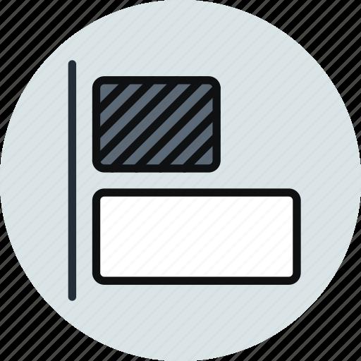 align, horizontal, left, objects, tool icon