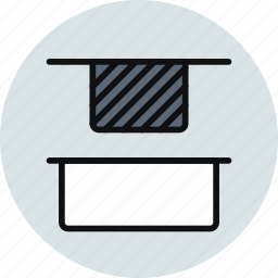 distrib, distribute, objects, tool, top, up, vertical icon