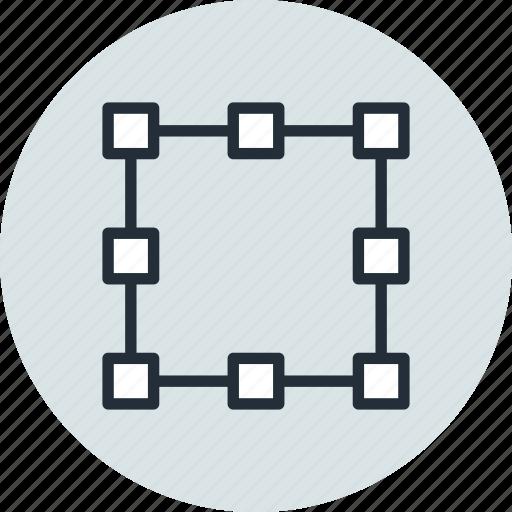 anchor, free transform, path, points, shape, tool icon