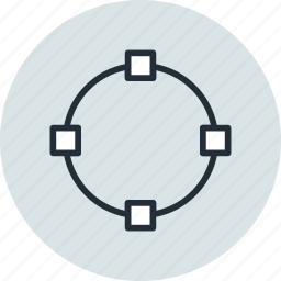 circle, object, oval, path, points, shape, transform icon