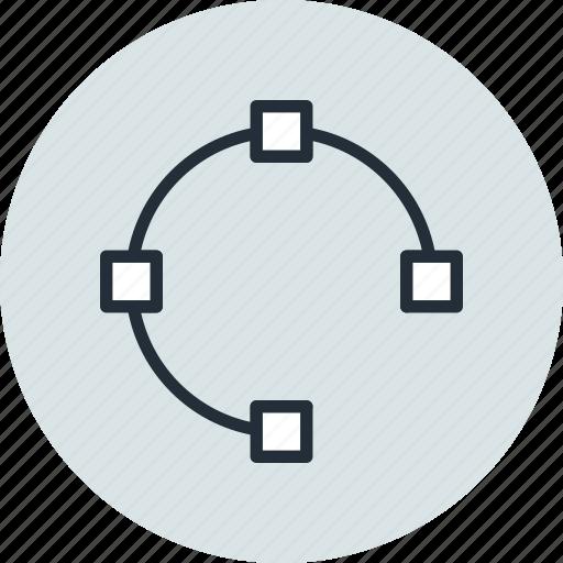 circle, edit, path, points, shape, tool, transform icon