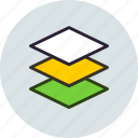 arrange, design, layers, levels, stack icon