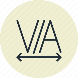design, editing, text, tracking icon
