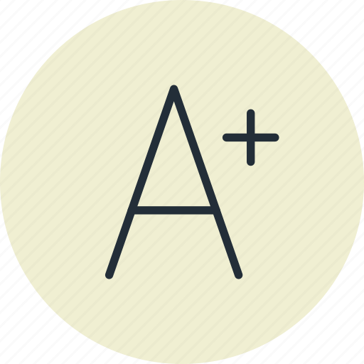 design, font, increase, larger icon