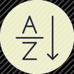 alphabetical, design, order, sort, sorting icon