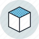 cube, design, edge, tool, top icon
