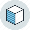 cube, design, edge, left, tool icon