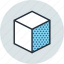 cube, design, edge, right, tool icon