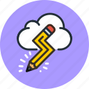cloud, creative, design, idea, imaginary, pencil icon