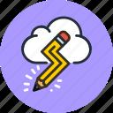 cloud, creative, design, idea, imaginary, pencil