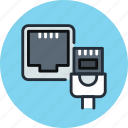 network, cable, connection, internet, ethernet, port icon
