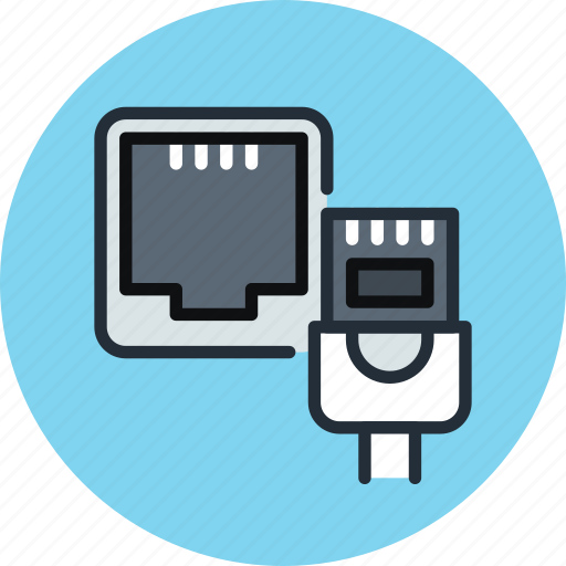 cable, connection, ethernet, internet, network, port icon