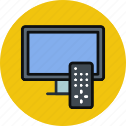 channel, entertainment, remote, settings, television, tv, watch icon