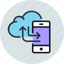 backup, cloud, data, mobile, phone, sync, synchronize, transfer icon