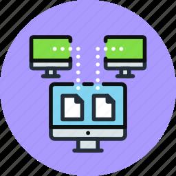 backup, copy, data, digital, network, sync, synchronize, transfer icon