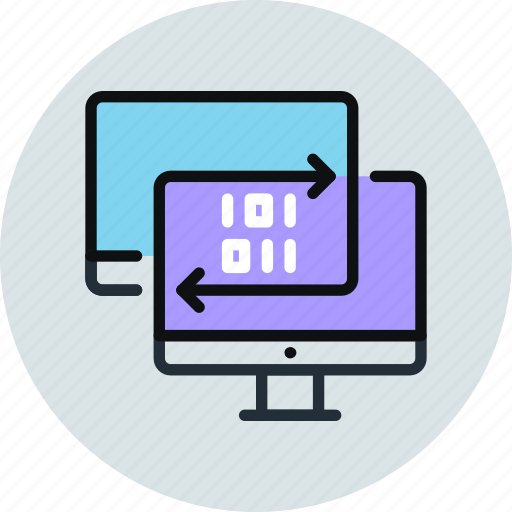 backup, copy, data, digital, network, sync, synchronization, transfer icon