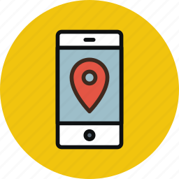 gps, iphone, location, mobile, navigation, phone, pin, track icon
