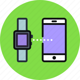 connect, data, iphone, mobile, phone, smart, transfer, watch icon