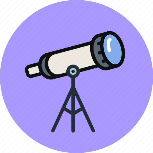 astronomy, explore, observation, sky, space, stars, telescope icon